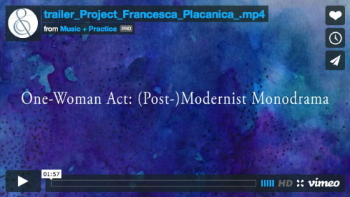 Project Trailer One Woman Act