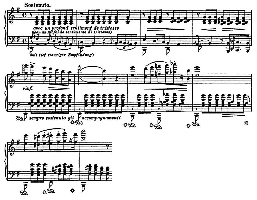 Figure 7: Franz Liszt: Album d'un voyageur, Book 1 no. 4, 'Vallée d'Obermann' S.156/5, bars 23–32.