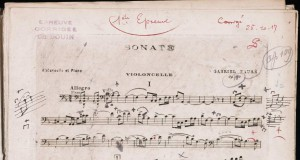 Gabriel Faure Sonate Op109