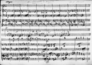 Hummel Mozart Piano Concerto D Minor Allegro Manuscript