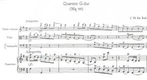 Quartet In G Major Carl Philipp Emanuel Bach