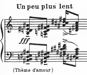 Figure 8: Chord progression in 'Par Lui tout a été fait' (Vingt Regards, no. 6), bar 23.