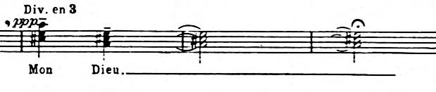 Figure 10: Closing chords of Trois Petites Liturgies, I.