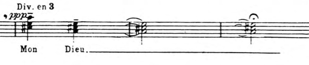 Trois Petites Liturgies Chords