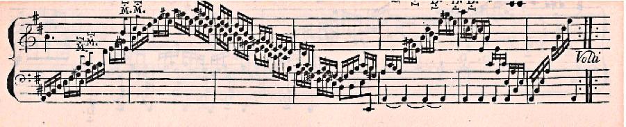 Figure 1: Domenico Scarlatti: K29, bars 43-49, from Essercizi