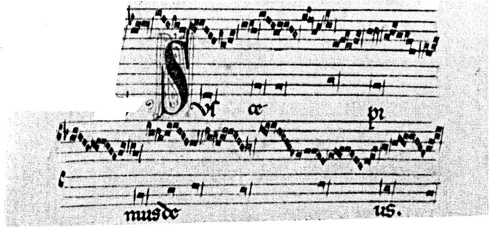 Figure 4: 'Suscepimus Deus', manuscript F: Pluteo 29.1. Facsimile reproduction of the manuscript ed. Luther Dittmer (2 vols), f. 106v (Publications of Mediaevel Musical Manuscripts, 1966–67: 10-11)